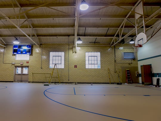 "Gym 1 in Eugene C. Clarke Jr.'s Community Center received a new padded urethane floor , and  ""cage"" protectors were installed on the windows so the gym can be used for more than just playing basketball, but also for games like dodge ball, kick ball, volleyball and indoor soccer."