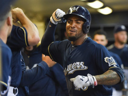 Domingo Santana and the Brewers have been a surprise