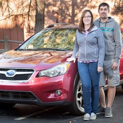Christine and Joel Kruppa, a Colorado couple in the market for a new car, liked the Subaru XV Crosstrek, winner of the Subcompact SUV Challenge