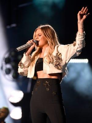 Kelsea Ballerini performs during the CMA Music Festival on June 9, 2017, at Nissan Stadium in Nashville.