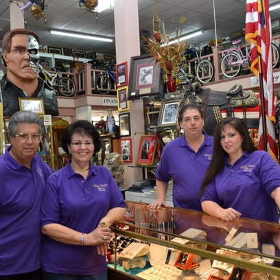 """A federal judge has ordered that members of the DeRamus family (pictured) at Silver Dollar Pawn Shop pay more than $121,000 for attorney fees and costs related to a lawsuit they filed in 2014 concerning an Alexandria police investigation of stolen items. The family members, who gained national fame on the """"Cajun Pawn Stars"""" TV show, are (from left) owner Jimmie DeRamus; his wife, Peggy DeRamus; his brother, Johnnie DeRamus; and daughter Tammie DeRamus-Credeur."""