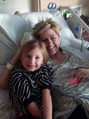Jill Brzenzinski-Conley with her niece, Averie Brzezinski.