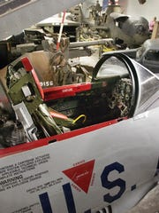 Visitors at the Aircraft and Milliatry Museum of the Ozarks can try on the drivers seat of a real 50's era T-33 jet fighter/trainer and look inside a Cobra attack helicopter.