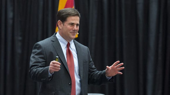 Speaking Friday at a Republican National Committee luncheon in Phoenix, Gov. Doug Ducey told the audience that he ousted the acting director of the Arizona Department of Weights and Measures because he was planning a Super Bowl week sting to shut down Uber and Lyft drivers, who at the time were not in compliance with Arizona law.