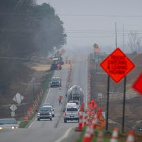 Road widening project on U.S. 60-West spurs temporary narrowing
