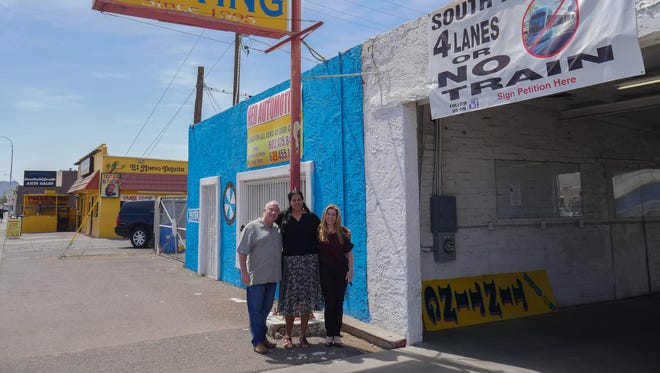 South Phoenix business owners Larry Cohen, Celia Contreras and Rachel Palopoli have been collecting signatures for a petition opposing the City of Phoenix's light rail expansion plan.