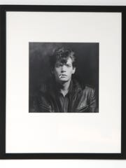"""Self Portrait,"" a 1980 photograph by Robert Mapplethorpe hangs the board room of the Contemporary Art Center."