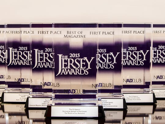 Award statues presented at the 8th Annual Jersey Awards on June 8 at The Grove in Cedar Grove.
