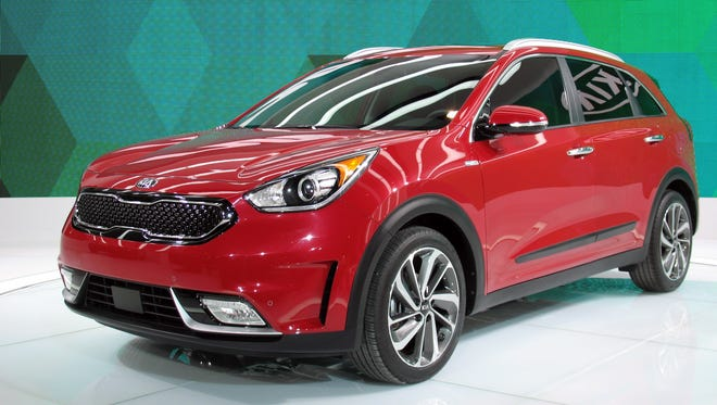 The 2017 Kia Niro hybrid utility vehicle is shown in this file photo.