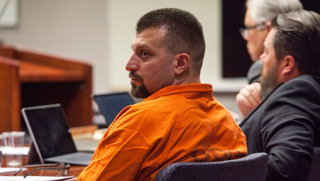 Mark Mair attends a preliminary hearing for murder charges at the 5th District Court in Cedar City, Utah, on Friday, November 3, 2017.