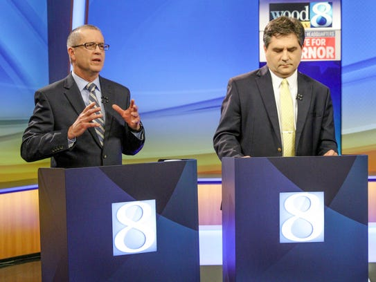 Dr. Jim Hines and Sen. Patrick Colbeck during the one-hour