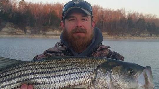Sean took out friend Kyle fishing for stripers recently. For the short time they were out they had a lot of action.