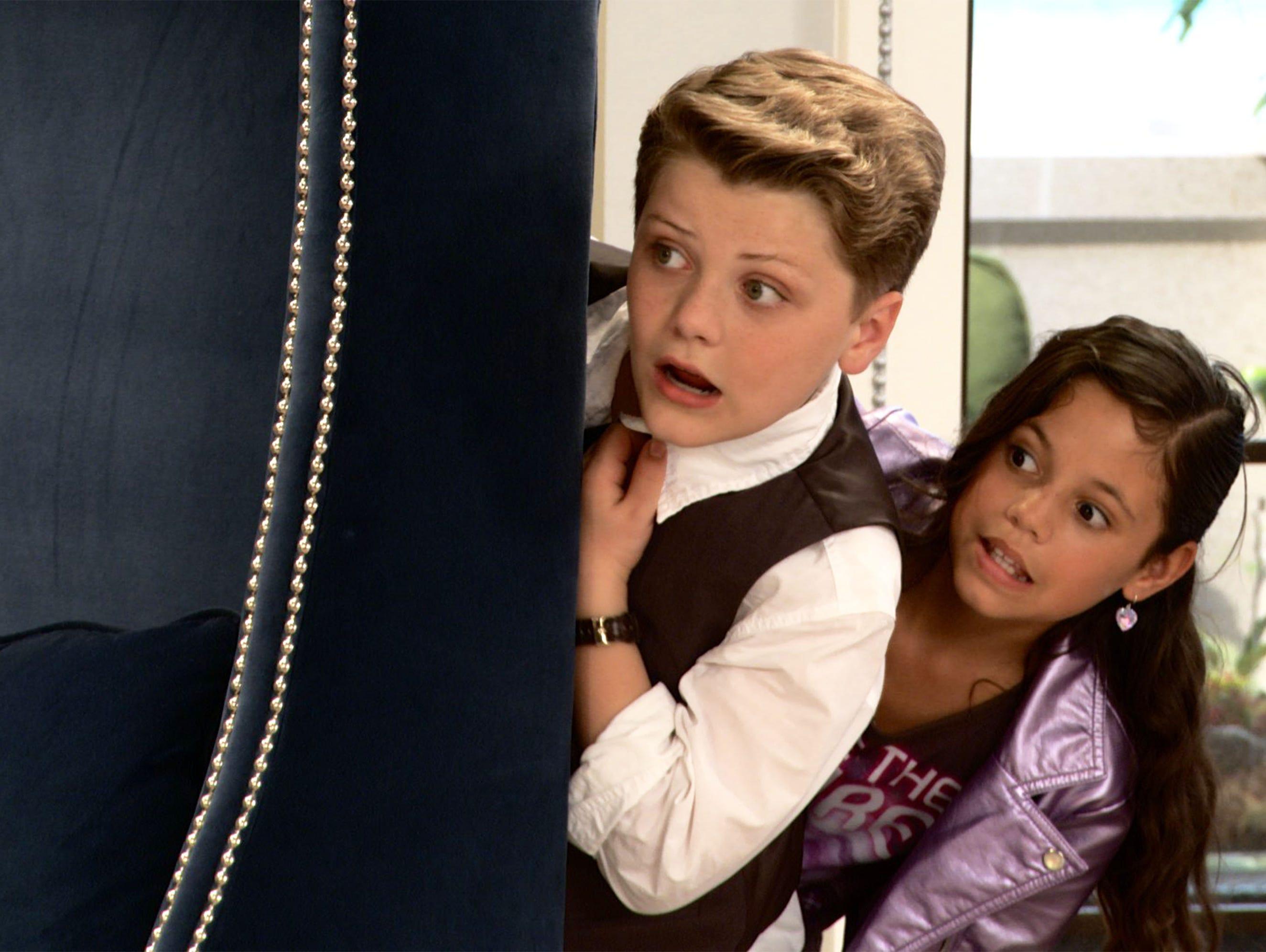 Jake Brennan (Richie Rich) and Jenna Ortega (Darcy) in 'Richie Rich.'