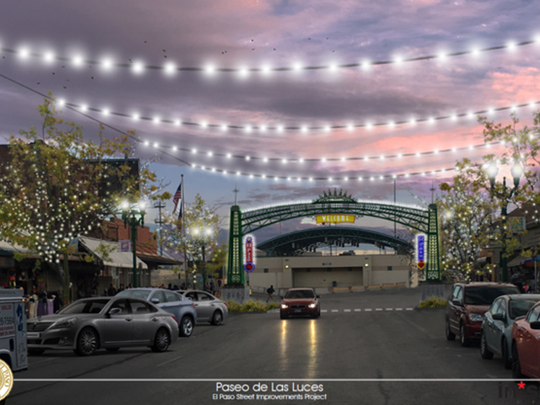 Rendition of Paseo de las Luces at South El Paso Street