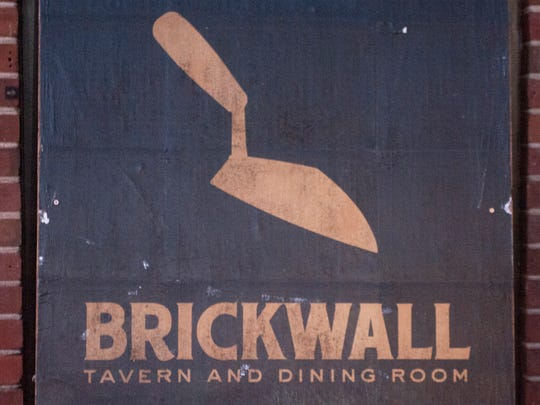 Exterior sign of Brickwall Tavern and Dining Room  in Burlington City.  01.05.16