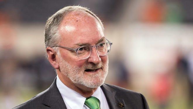 Notre Dame athletic director Jack Swarbrick is a former attorney for USA Gymnastics.