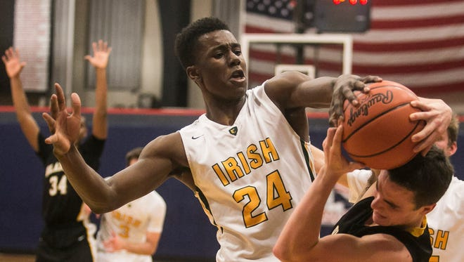York Catholic graduate Melik Martin has reversed course once more, reclassifying into the Class of 2017 to commit to play for Monmouth University this upcoming season. Martin was previously committed to Putnam Science Academy to play prep ball for the upcoming season. Amanda J. Cain photo