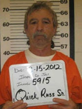 Russell Quick, 58, of Kellogg was charged with driving while barred, third-degree operating while intoxicated, interference with official acts, eluding, possession of a controlled substance and several traffic violations.
