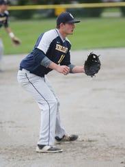Schoolcraft College third baseman Steve Szymanski,