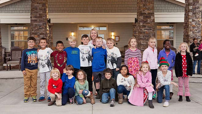 Shown are students in Mrs. Kellett's second-grade class of Concrete Primary School who made special Christmas treats for residents at Oakview Park Assisted Living.