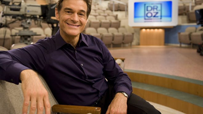 Dr. Mehmet Oz on the set of the Dr. Oz Show in New York.