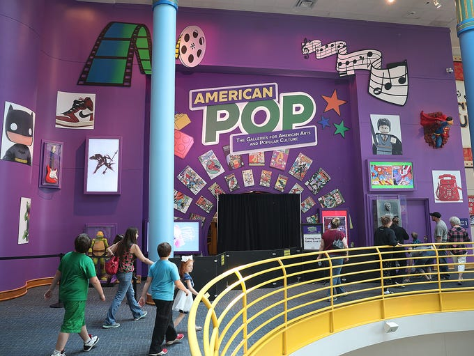 """The new """"American Pop"""" exhibit at the Children's Museum"""
