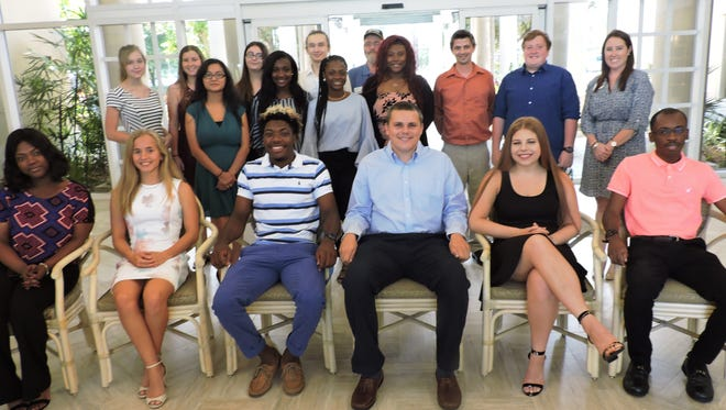 The Sandhill Cove Foundation recently awarded scholarships to 32 employees or their children, of which 18 are pictured here. The scholarship recipients are Taylor Arendt, Anthony Armstrong, Orfeo Bacchiocchio, Tariq Bacon, Joshua Bouvier, Mary Beth Brown, Bonnie Burandt, Kerry Ann Daley, Olivia Dodge, Shannon Duggan, Cheyenna Duphren, Stacy Duphren, Kerry Exantus, Terry Exantus, Vinciane Freeman, Kailey Griffo, Arianna Haughie, Shelby Helms, Logan Hinkley, Demetrius Johnson, Carly Legere, Julienne Louidor, , Elmanny Mondesir, Sarah Poltroneiri, Alejandro Saez, Karina Teixeira, Shantrell Thomas, Joronda Thompson, Michelle Truitt, Ryan Westergren, Kerstian Williams and Austin Woodruff.