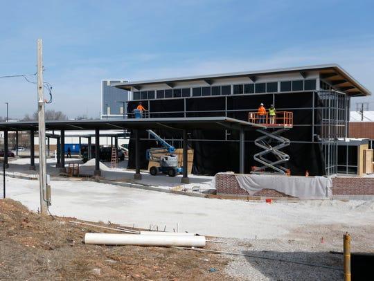 Progress on a new City Utilities bus transfer station