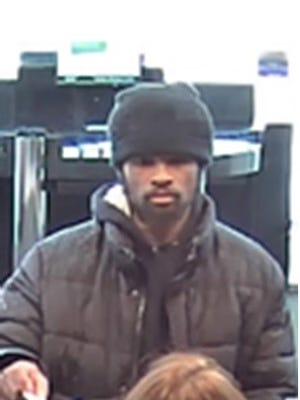 State police are looking for this man who they say robbed a bank near New Castle Tuesday.