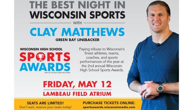 WI Sports Awards Banquet with Clay Matthews