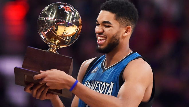 Minnesota Timberwolves center Karl-Anthony Towns says he wants to be great.