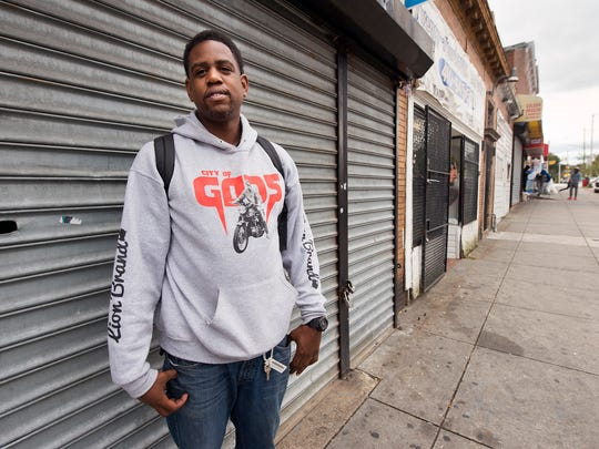 Stephon Meekins, seen in this photo on West North Avenue in Baltimore, lost money through civil forfeiture in York County.