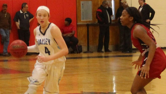 Stephanie LaGreca (4) scored 10 points for Wayne Valley in its win over Kennedy.
