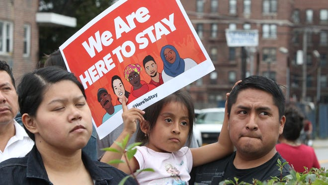 A rally in support of Westchester's Immigration Protection Act in Yonkers Sept. 18, 2017.