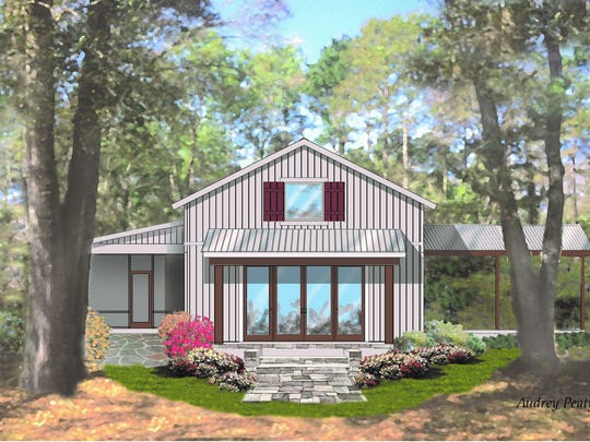 This home takes the tiny house concept to the next level. It's located off of Centerville Road at 10031 Thousand Oaks Circle.