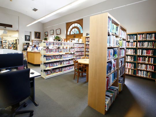 Interior view of the Rose Memorial Library in Stony
