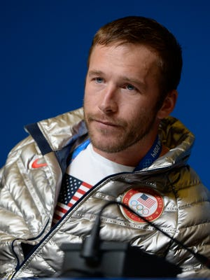 In a file photo from 2014, Bode Miller appears at a news conference during the Sochi Olympics.