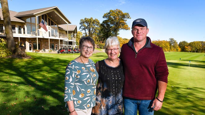 Linda Fenlason, left, co-owner and CEO of Blackberry Ridge Golf Club in Sartell, is retiring and selling her stake in the company to co-owner, CFO andsister-in-law Kittie Fenlason, who plans to share ownership with her son Wes shown Tuesday, Oct. 10, on the course.
