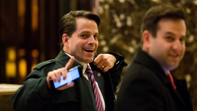 Scaramucci leaves Trump Tower in New York City on Dec. 5, 2016.