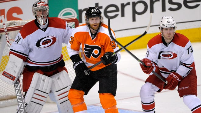 The Flyers have lost three games in a row to the Carolina Hurricanes.