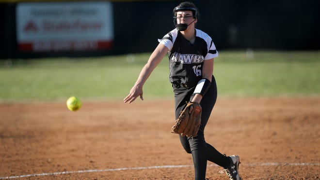 North Buncombe's Caitlin Griffin is a member of the Citizen-Times All-WNC Softball team.