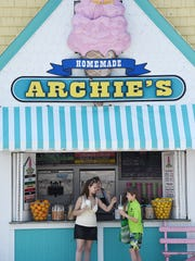 Archie's on Rehoboth Avenue serves up juice, ice cream and other delicious treats the Friday before Memorial Day.