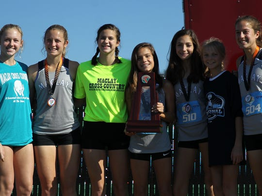 Ella Porcher (third from right) and Maclay's girls