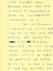 A six-year-old Edgemont boy named Alex wrote a letter
