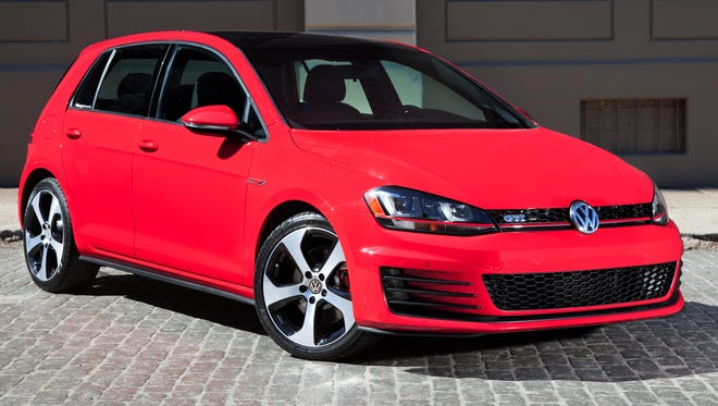 The redesigned 2015 VW Golf GTI.