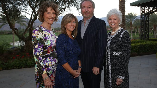 From left: Event co-chair Bonnie Timarac, emcee Jenifer Daniels of CBS Local 2TV, jewelry designer Michael Kneebone of The Canyon Road Collection, and event co-chair Bobbi Reiman