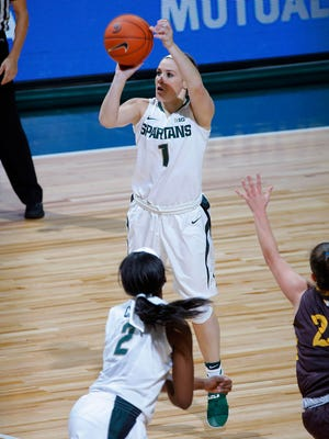 Michigan State's Tori Jankoska was drafted No. 9 overall by the Chicago Sky in the WNBA draft Thursday night.