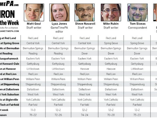 The GameTimePA.com staff's Week 7 predictions.