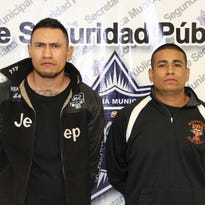 Jesus Manuel Acosta Cabrera, 25, and Jose Luis Cordova Reyes, 29, were arrested by Juárez police minutes after a fatal shooting Wednesday.
