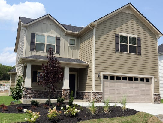 Exterior of a finished home in Ole South's new subdivision